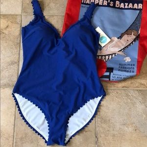 NWT Boden Scallop Trim One Piece Swimsuit